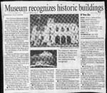 Museum recognizes historic buildings