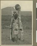 Ringing the school bell, Eastern province, Kenya, 1934