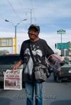 Selling newspapers, Juárez, 2008