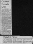 County's financial crisis